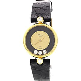 Chopard Happy Diamonds 18K Yellow Gold Womens Watch