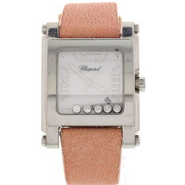 Chopard Happy Sport Stainless Steel Floating Diamonds Watch