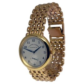 A. Lange & Sohne 1815 18K Yellow Gold Mens Bracelet Watch