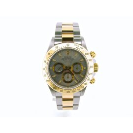 Rolex Daytona 16523 2Tone 18K Yellow Gold/Stainless Steel Cosmograph Slate Mens Watch