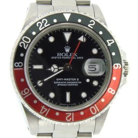 Rolex 16710 Stainless Steel GMT-Master II Watch Oyster Black & Red Coke Mens Watch