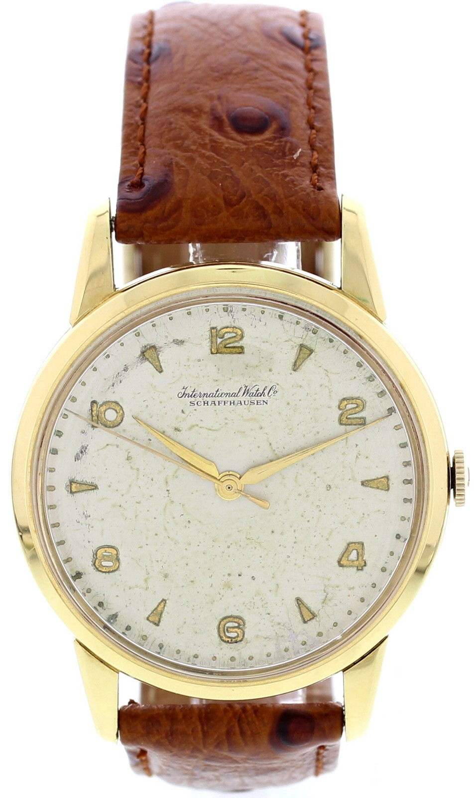 "Image of ""IWC 18K Yellow Gold Mens Watch"""