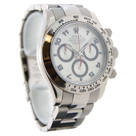 Rolex Daytona 116509 18K White Gold Chronograph Mens Watch