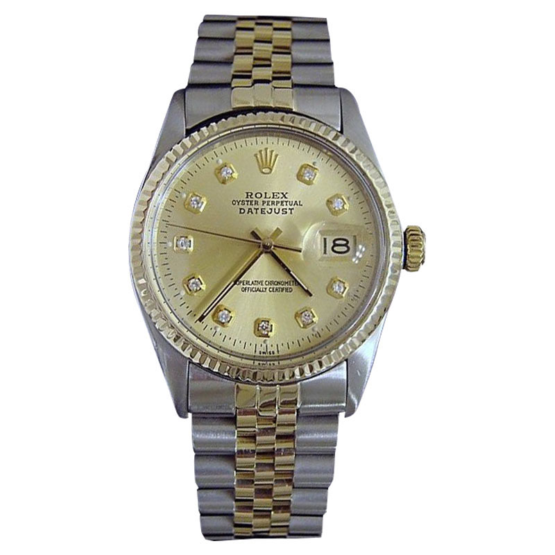 """Image of """"Rolex 2Tone 14K Gold & Stainless Steel Datejust Champagne Diamond"""""""