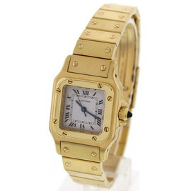 Cartier Santos 090103283 18K Yellow Gold Automatic Womens Watch