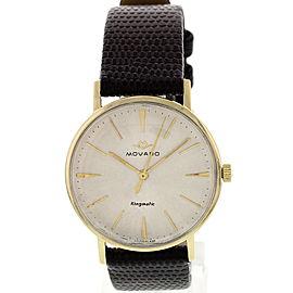 Movado Kingmatic 14K Yellow Gold Vintage Mens Watch