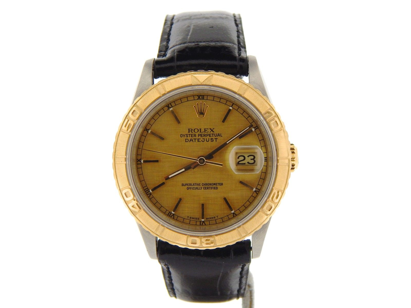 """Image of """"Rolex Datejust 16263 Stainless Steel & 18K Yellow Gold 36mm Watch"""""""