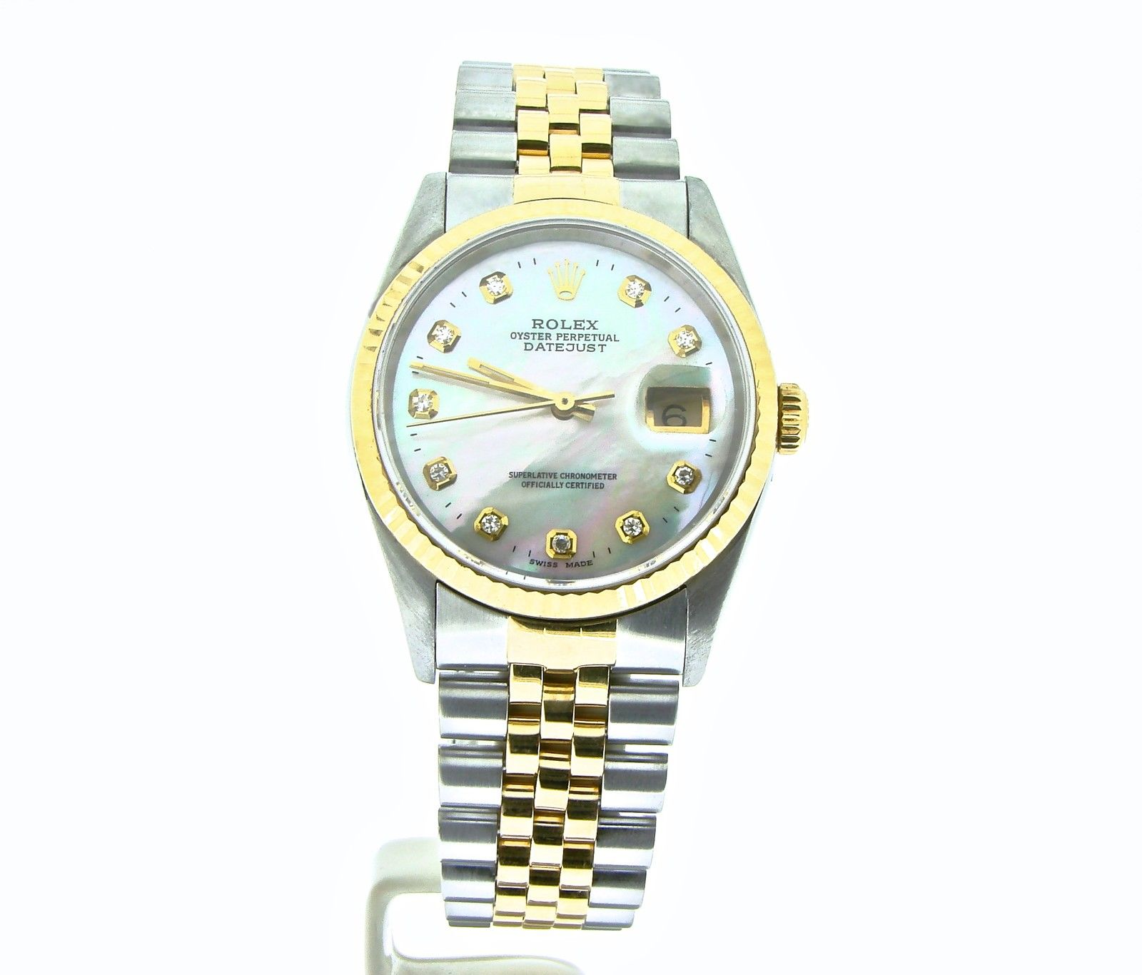 """Image of """"Rolex Datejust 16233 Two Tone 18K Yellow Gold & Stainless Steel With"""""""