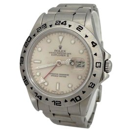Rolex 16550 Oyster Perpetual Date Explorer II Stainless Steel 39mm Watch
