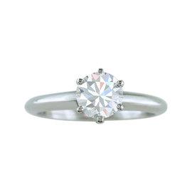 Tiffany & Co. 1.28ct Diamond & Platinum Engagement Ring Size 8.25