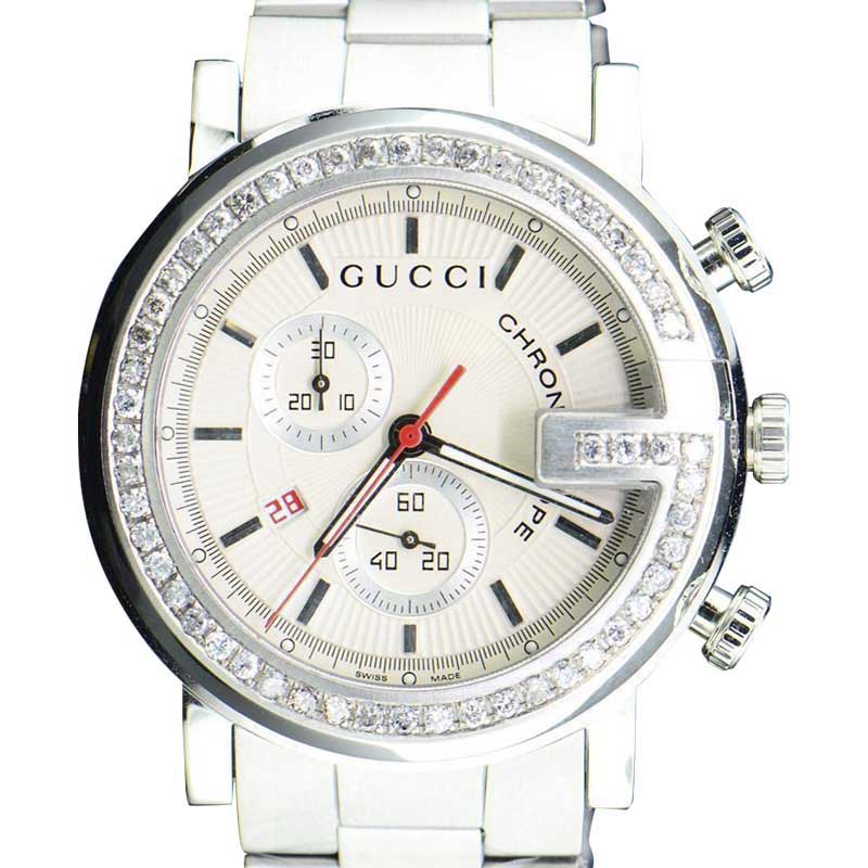 "Image of ""Gucci Ya101339 Stainless Steel Quartz 44mm Mens Watch"""