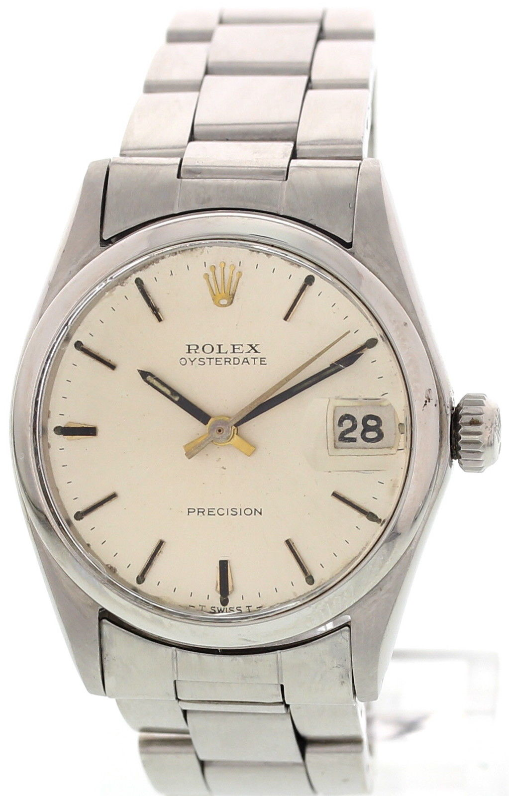 """""Rolex Oysterdate Precision 6466 Stainless Steel 30mm Watch"""""" 786900"