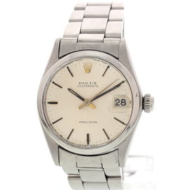 Rolex Oysterdate Precision 6466 Stainless Steel 30mm Watch