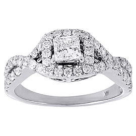 14K White Gold Solitaire Diamond Engagement Ring Size 7