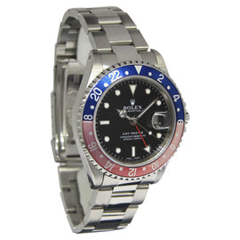 Rolex GMT-Master 16700 Stainless Steel Pepsi Blue/Red Mens Watch