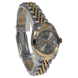 Rolex Datejust 6917 18K Yellow Gold Stainless Steel Grey Roman Dial 26mm Watch