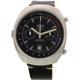 Heuer Montreal Automatic Chronograph Stainless Steel Vintage Mens Watch
