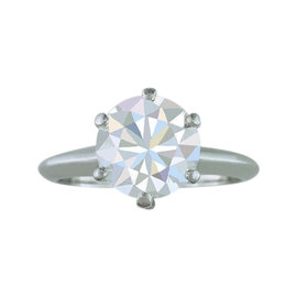 Tiffany & Co. 2.59ct Diamond Solitaire Platinum Engagement Ring Size 5.5