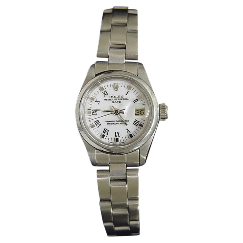 "Image of ""Rolex Date 6916 Stainless Steel With Oyster Band White & Black Roman"""