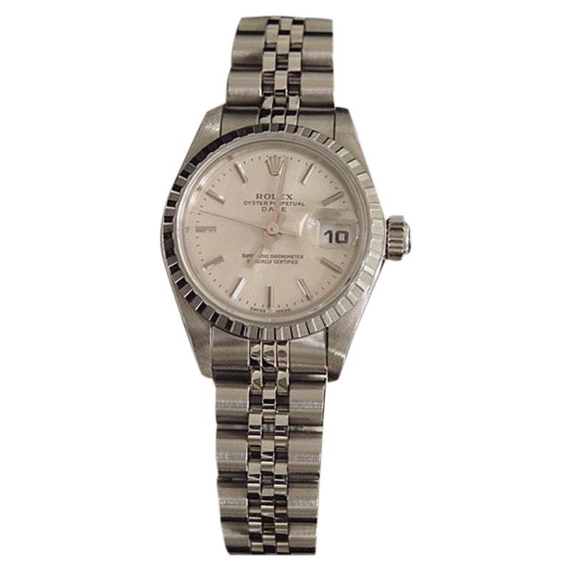 "Image of ""Rolex Date 79240 Stainless Steel Watch Quickset Jubilee Bracelet"""