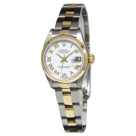 Rolex Datejust 69163 18K Yellow Gold & Stainless Steel White Dial 26mm Watch