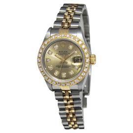 Rolex Datejust 69173 18K Gold/Steel Champagne Diamond Dial/Bezel 26mm Watch