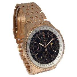 Breitling Navitimer QP 48 R29380 Perpetual Chronograph 18K Rose Gold 48mm Mens Watch