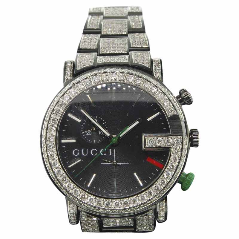 """Image of """"Gucci Ya101331 Stainless Steel Quartz 44mm Mens Watch"""""""