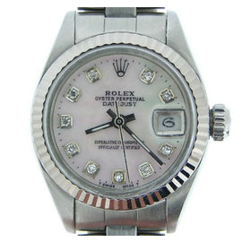 Rolex Datejust Stainless Steel & 18K White Gold Womens Watch