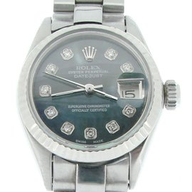 Rolex Datejust 6917 Stainless Steel With Mother Of Pearl Diamond Bracelet Womens Watch
