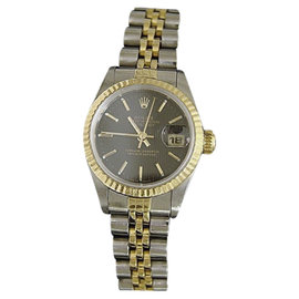 Rolex Datejust 69173 Two-Tone 18K Yellow Gold & Stainless Steel Womens Watch