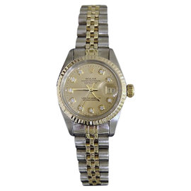 Rolex Datejust 6917 Two Tone 14K Yellow Gold & Stainless Steel Womens Watch