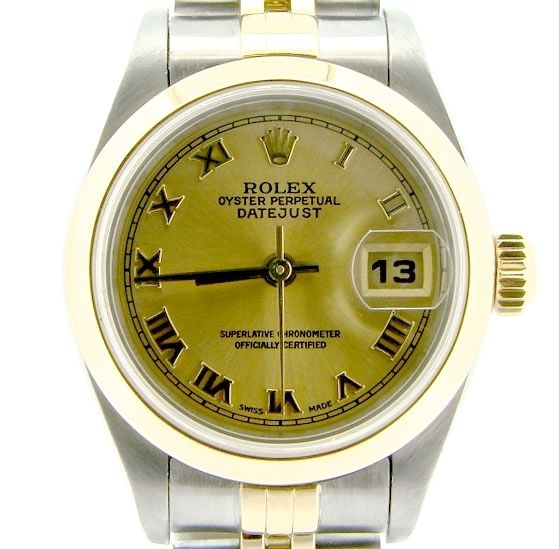 """Image of """"Rolex Datejust 79163 18K Yellow Gold & Stainless Steel Womens Watch"""""""