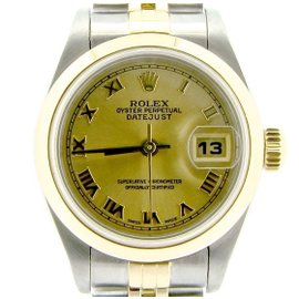 Rolex Datejust 79163 18K Yellow Gold & Stainless Steel Womens Watch