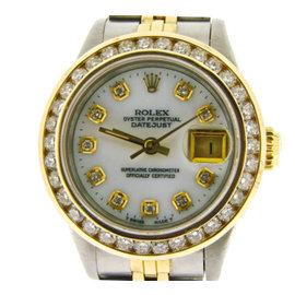 Rolex Datejust 18K Yellow Gold & Stainless Steel Womens Watch