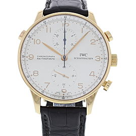 IWC Portuguese 371204 18K Rose Gold Split Second Chronograph 41mm Watch