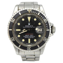 Rolex Mark IV 1680 Red Dial Submariner Stainless Steel Mens 1971 Vintage 40mm Watch