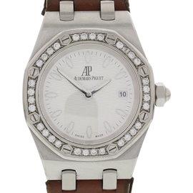 Audemars Piguet Royal Oak Lady Diamond Bezel Stainless Steel 33mm Womens Watch
