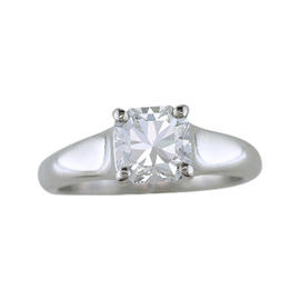 Tiffany & Co. Platinum & .76ct Lucida Diamond Solitaire Engagement Ring Sz 5.25