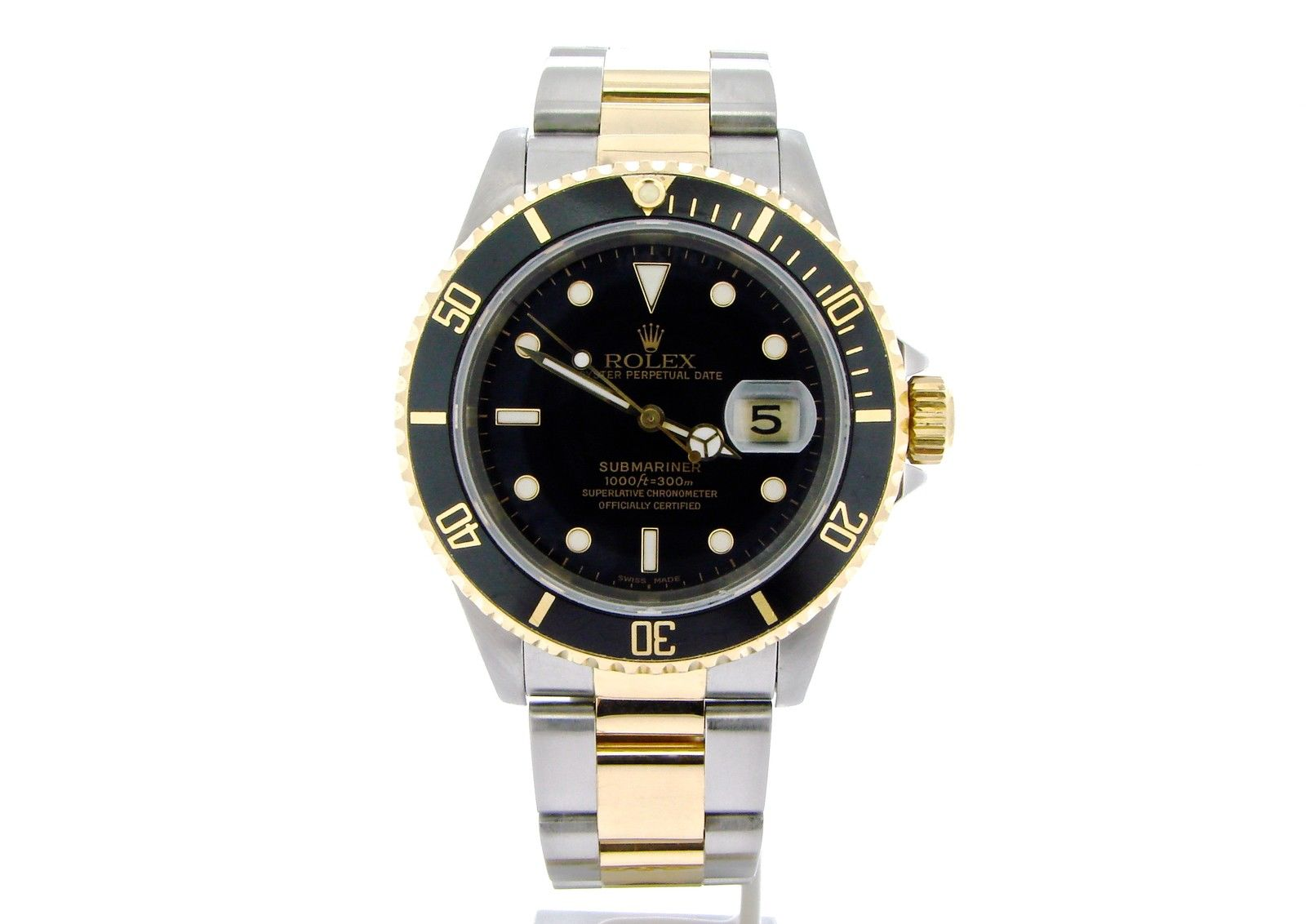 "Image of ""Rolex Submariner 16613 18K Yellow Gold & Stainless Steel With Black"""