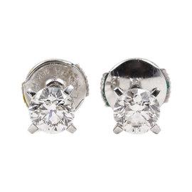 Chopard 18K White Gold & 1.02ct Diamond Stud Earrings