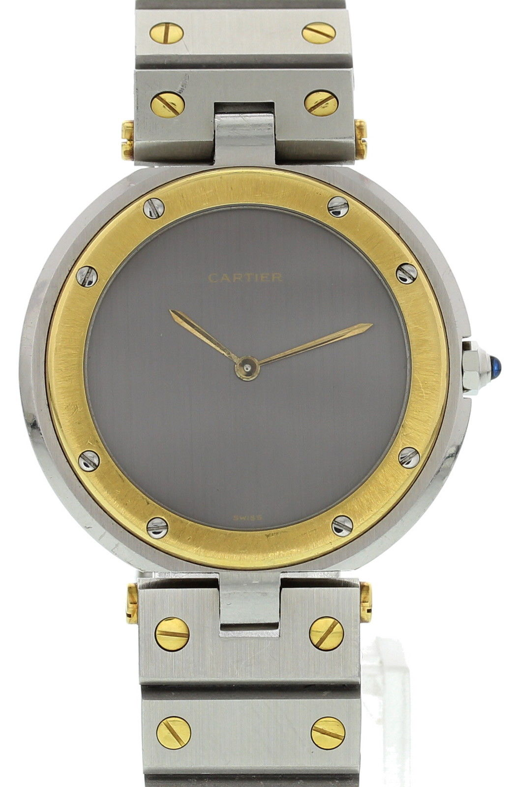 """Image of """"Cartier Santos Ronde 18K Yellow Gold & Stainless Steel Gray Dial"""""""
