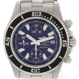 Breitling Aeromarine Superocean A13341 Stainless Steel Blue Dial Automatic 44mm Mens Watch