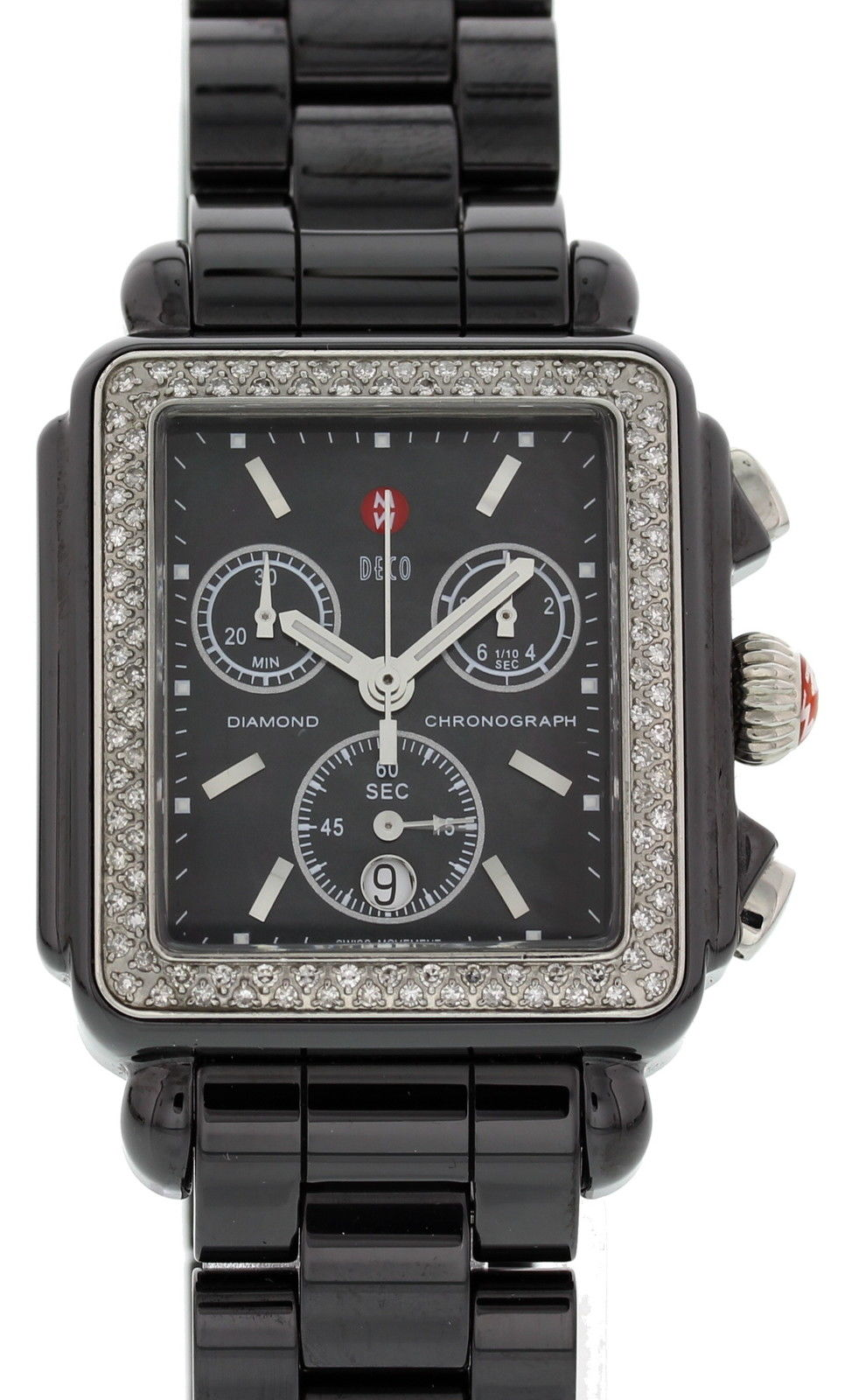 "Image of ""Michele Deco Mww06F000001 Chronograph Stainless Steel & Diamonds"""
