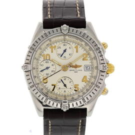 Breitling Chronomat B13050.1 Stainless Steel & Leather Automatic 39mm Mens Watch