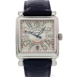 Franck Muller Conquistador 10000 H SC Stainless Steel & Leather Automatic 41mm Mens Watch