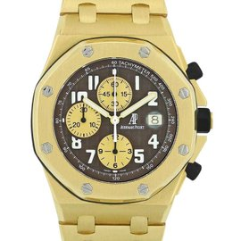 Audemars Piguet Royal Oak Offshore 25721BA.OO.1000BA.03 18K Yellow Gold 42mm Mens Watch