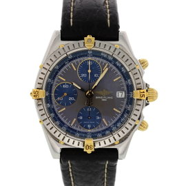 Breitling Chronomat GT B13050 Stainless Steel & Leather Automatic 39mm Mens Watch