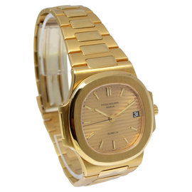 Patek Philippe Nautilus 3800 18K Yellow Gold Champagne Dial Automatic 38mm Mens Watch