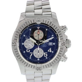 Breitling Super Avenger A13370 Chronograph Stainless Steel Blue Dial Automatic 48mm Mens Watch